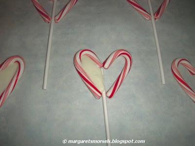 Margaret's Morsels   Candy Cane Lollipops