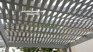 تركيب مظلات خشبية بلاستيك