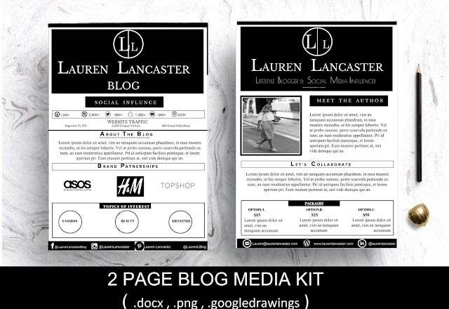 Lauren Lancaster Blogger Kit - from www.faithfullyme.co.uk