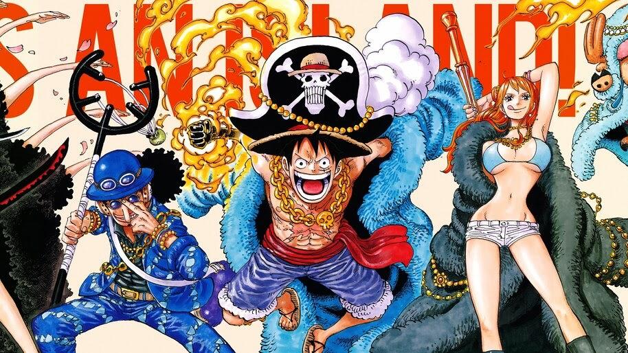 Luffy, Usopp, Nami, One Piece, 4K, #6.115