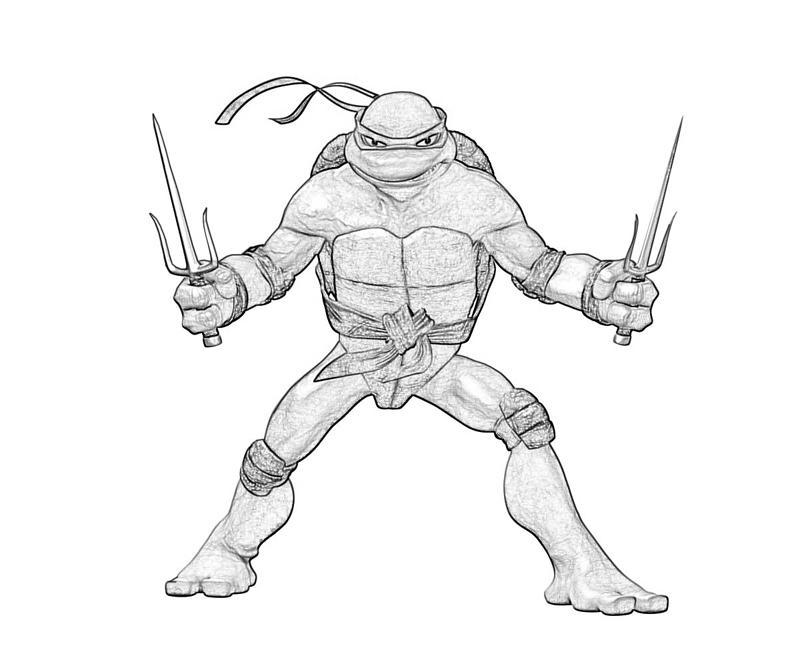 ninja turtles raphael coloring pages - photo#8