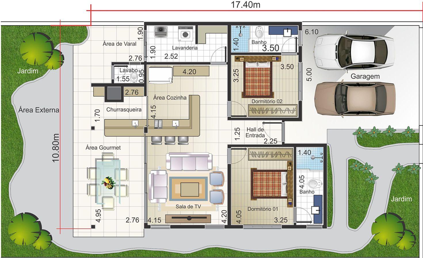 planta baixa de casa grande