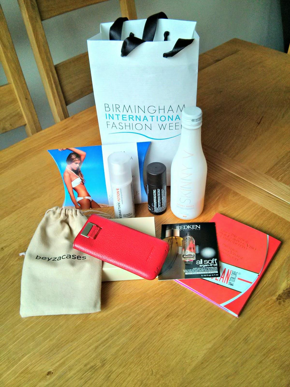 Birmingham Fashion Week Goody bag