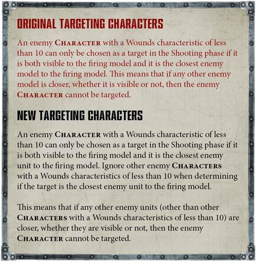 Atacar a personajes reglas beta warhammer 40.000