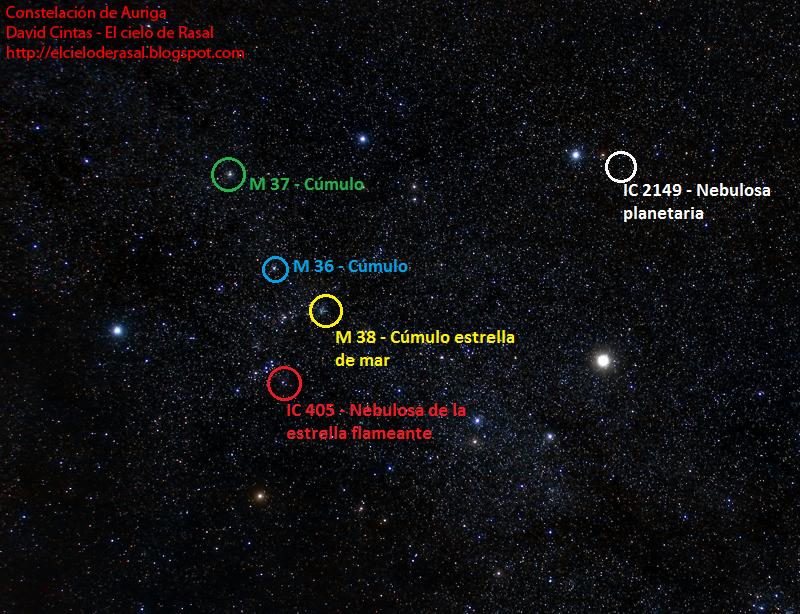 Auriga objetos constelacion - El cielo de Rasal