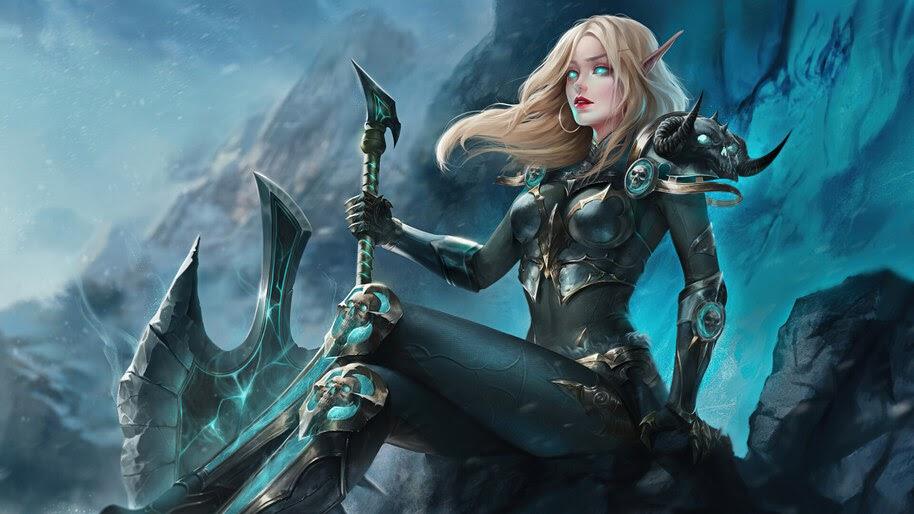 Beautiful, Elf, Warrior, Fantasy, 4K, #6.758