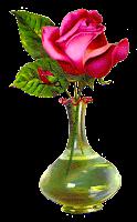 digital download shabby chic pink rose floral flower clipart image