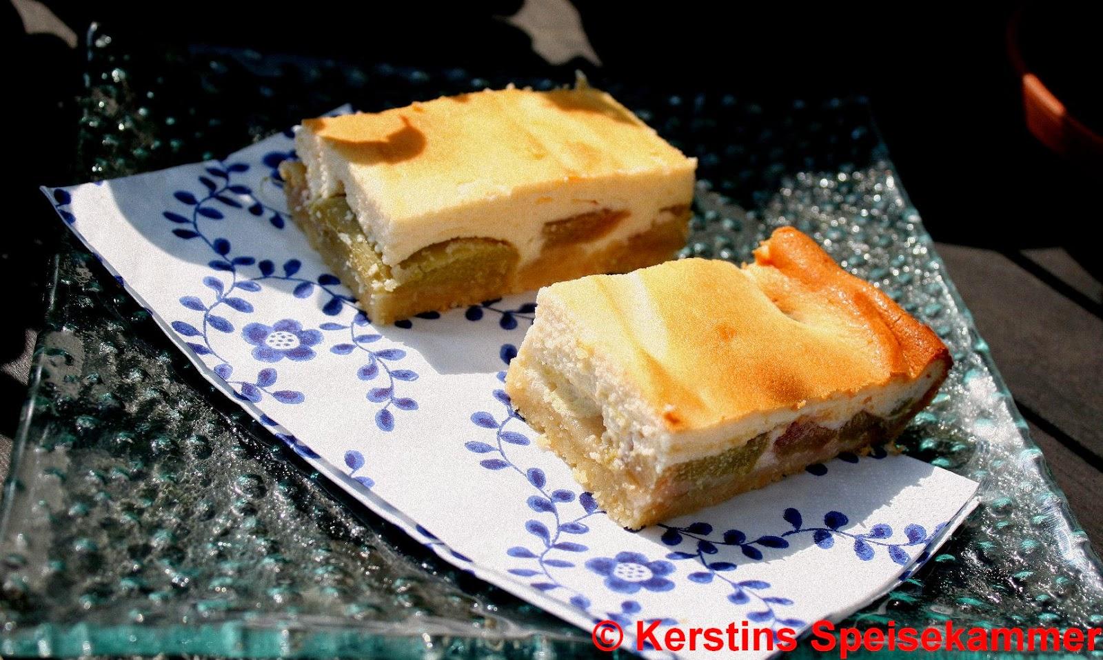Kerstins Speisekammer Rhabarber Quark Kuchen