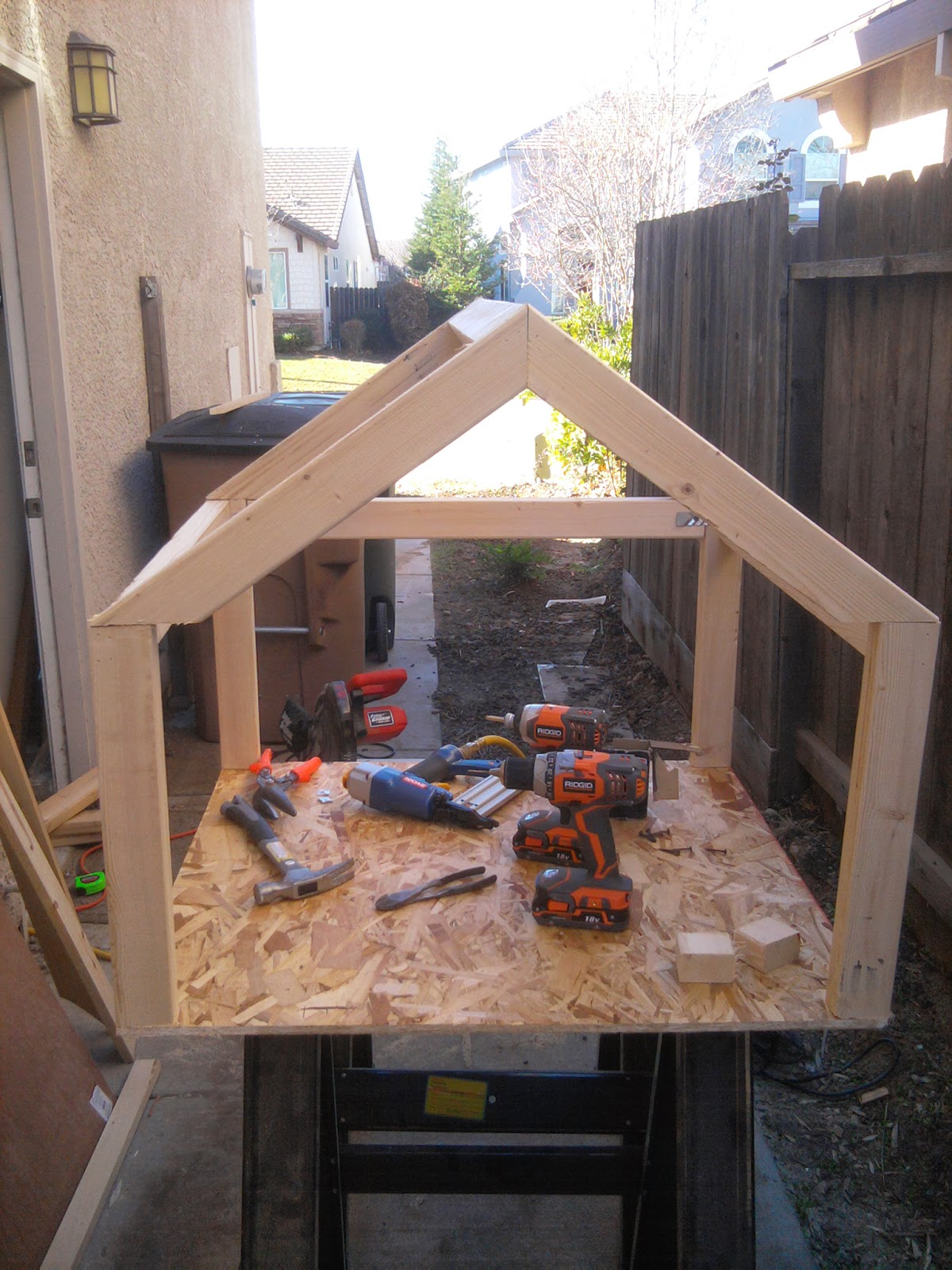 Roscoes Story In The Dog House - Dog-house-frame