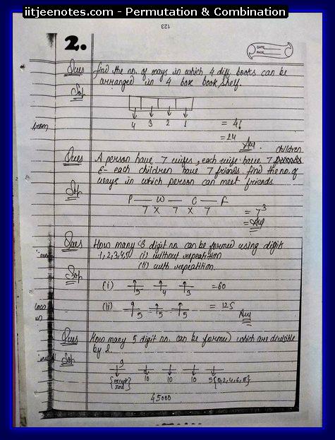 IITJEE Notes on Permutation & Combination 1