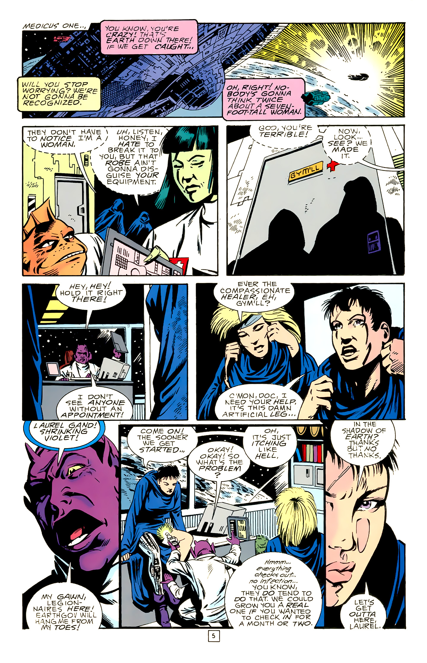Legion of Super-Heroes (1989) 18 Page 5