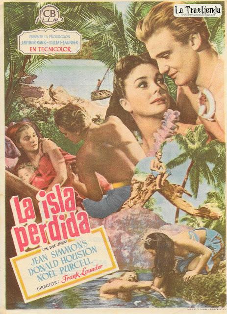 La Isla Perdida - Programa de Cine - Jean Simmons - Donald Houston
