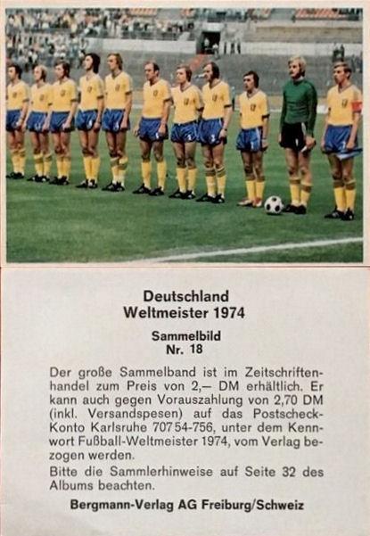 Football Cartophilic Info Exchange Bergmann Verlag 30235