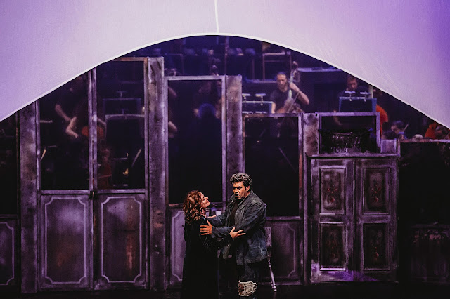 Wagner: The Ring - Die Walküre - Susanne Geb as Brünnhilde, Vladimir Baykov as Wotan  - Erl Festival (Photo Xiomara Bender)