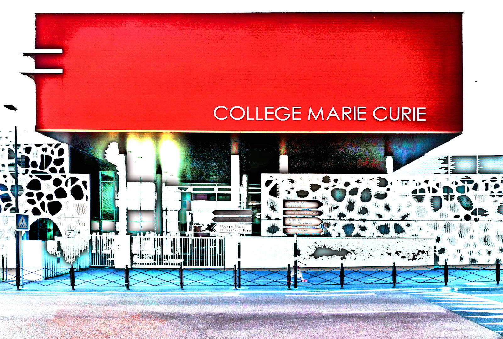 Moderne collège Curie Tourcoing