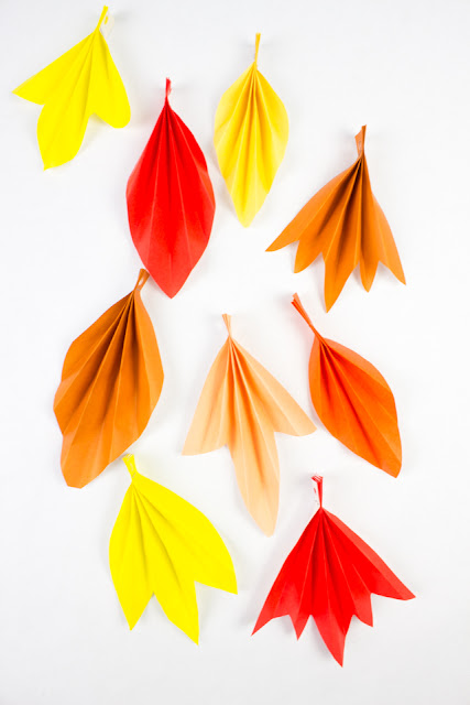 how to make a lovely accordion folded paper leaf banner with kids