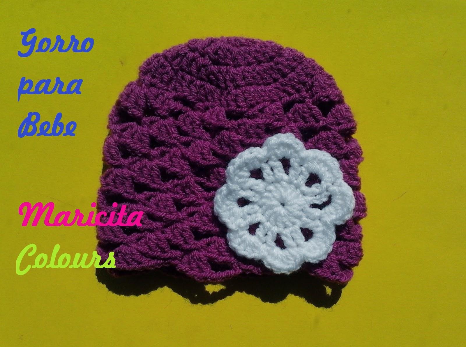 Tejidos Por Maricita Colours Crochet Häkeln Tutorial Gorro Bebe