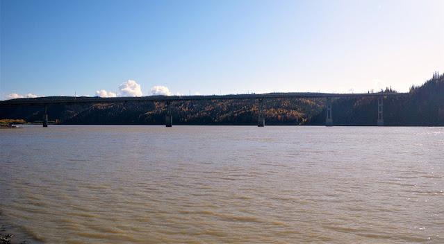 Yukon River and Bridge in Dalton highway Alaska