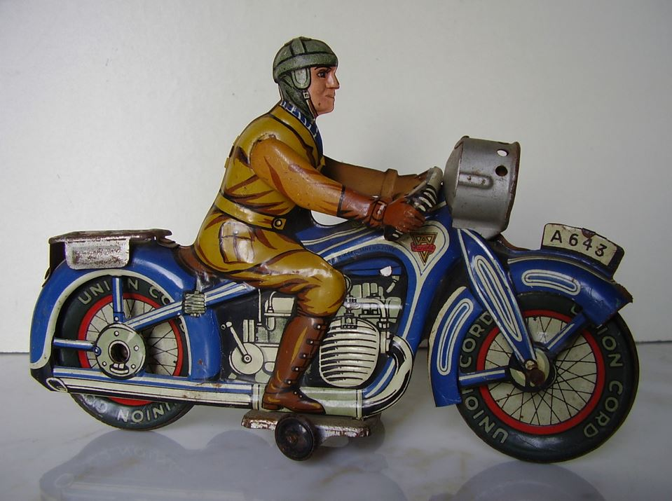 motorcycle toys toy tin german arnold karl modification styles wind