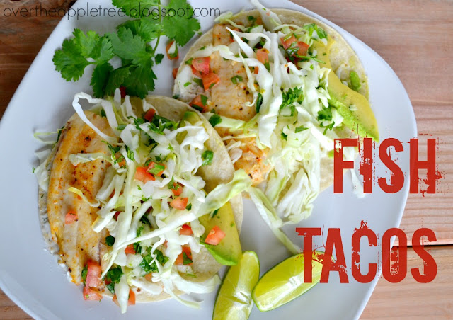 Fish Tacos by Over the Apple Tree