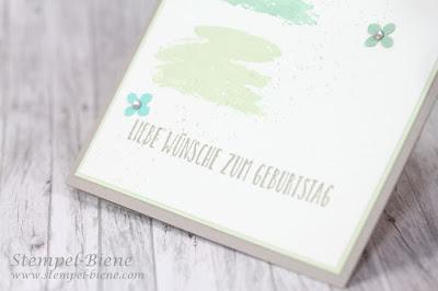 Stampinup Stempelparty; Stampinup Grüße voller Sonnenschein; Geburtstagskarte, Bastelanfänger; Workshop; Einfache Karte