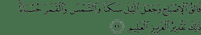 Surat Al-An'am Ayat 96