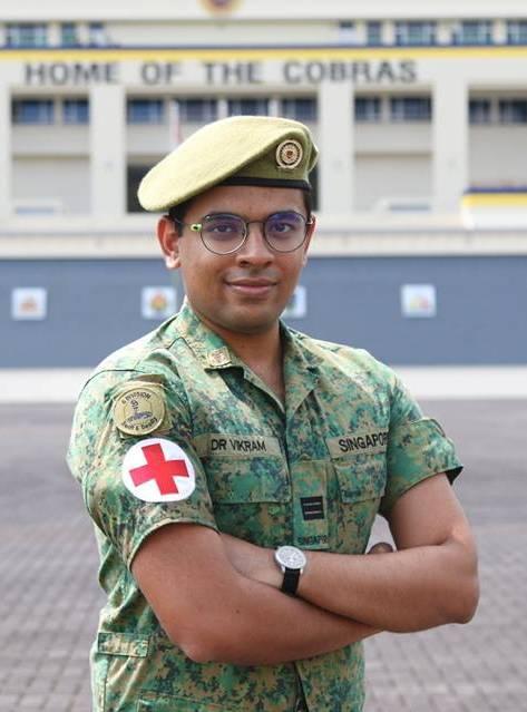 CPT (DR) Vikram Manian, Medical Officer, 1st Battalion, Singapore Infantry Regiment (1 SIR).