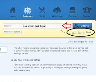 Earn money from Adfly: earn money from Adfly