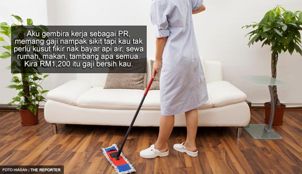 'Walaupun Gaji Pembantu Rumah (Local) RM1,200, Kau Tak Ada Tekanan Kerja'