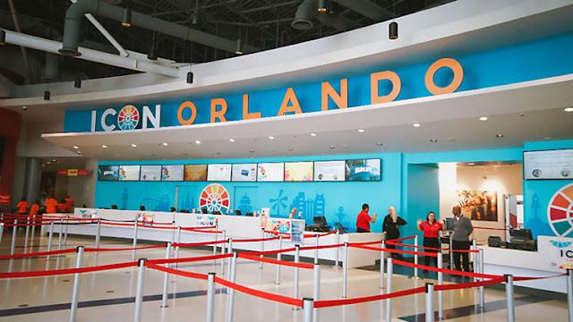 Fila da roda-gigante ICON em Orlando