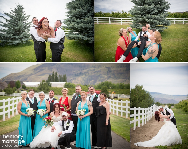turquoise and red wedding photography