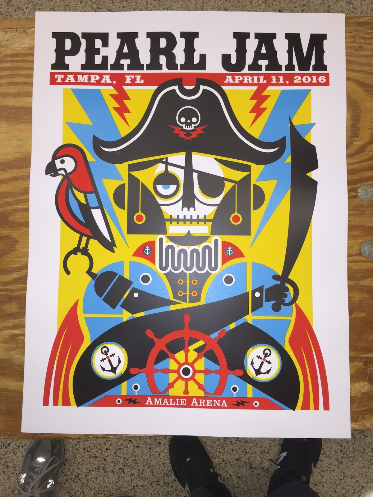 inside the rock poster frame blog don pendleton pearl jam tampa
