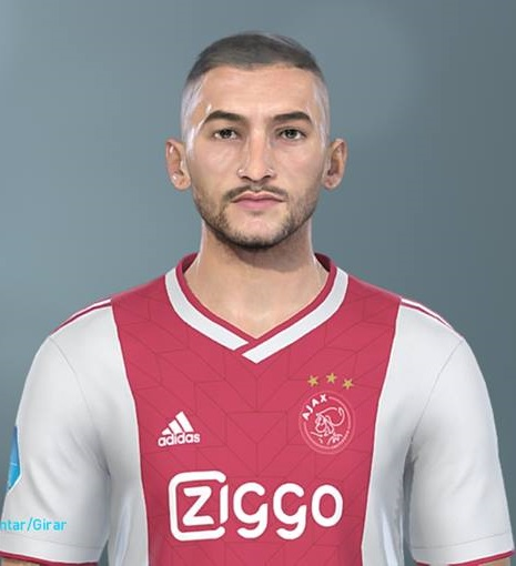 Pes 2019 Faces Lucas Moura By Hugimen: PES 2019 Faces Hakim Ziyech By Lucas Facemaker