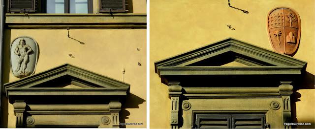 Detalhes de fachadas renascentistas de Florença