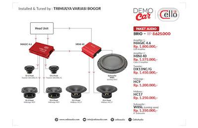 Paket Audio Brio by Trimulya variasi Bogor
