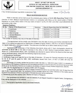Lok Nayak Hospital Recruitment 2017