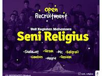 Open Recuitment UKM Seni Religius 2018