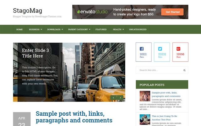 free blogger theme stago mag