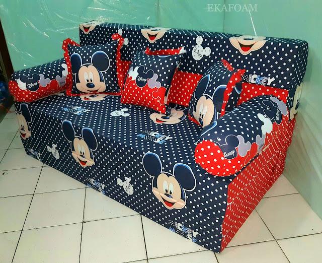 Sofa bed inoac motif mickey mouse Navy