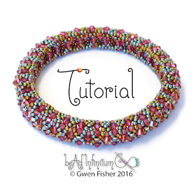 Tutorial - Bicone Bangle Bracelet Pattern Made with Seed Beads