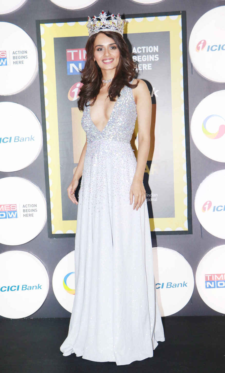 Miss India 2017 Winner Manushi Chellar at The 4th 'NRI of the Year Awards' at Grand Hyatt