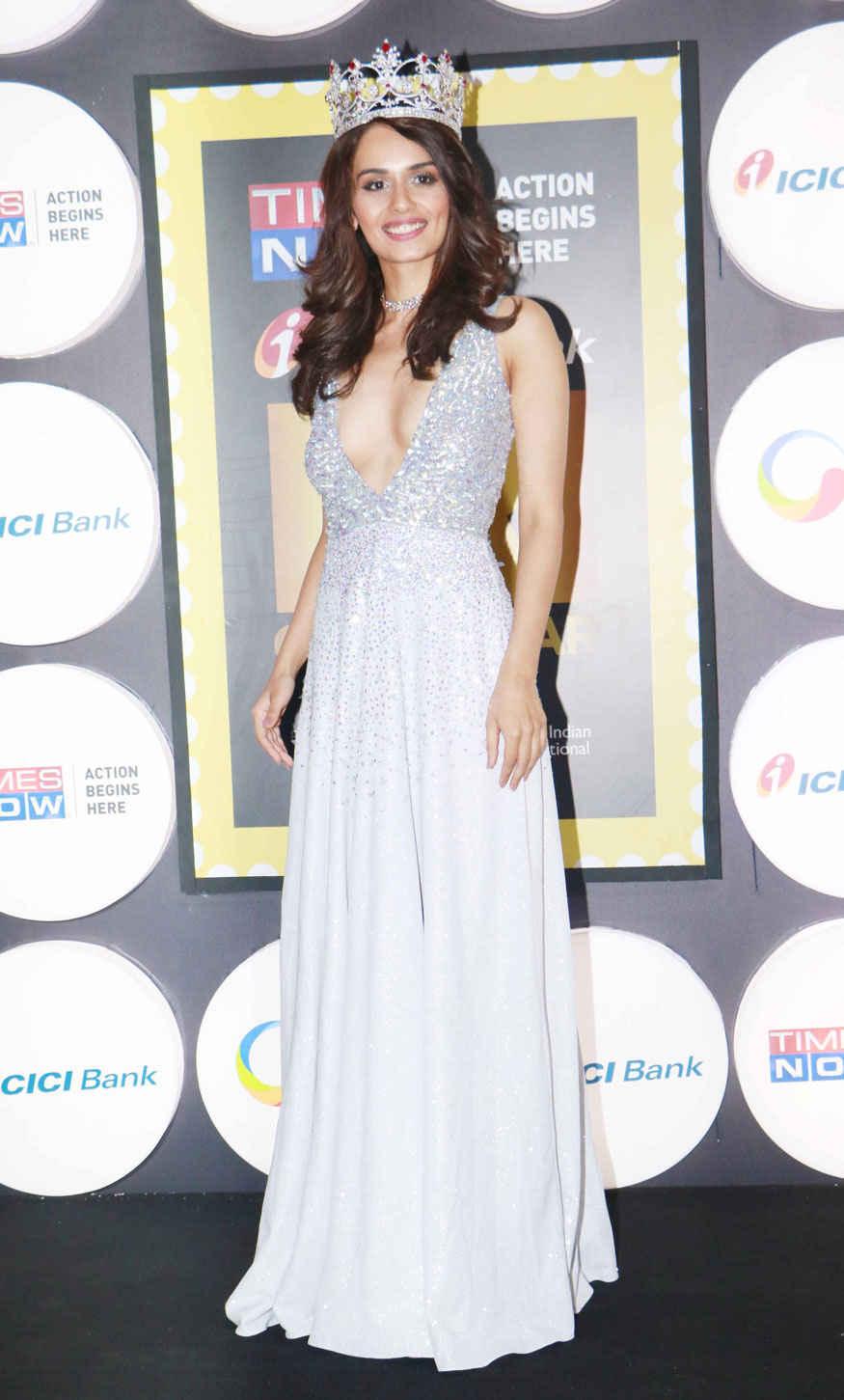 Miss India 2017 Winner Manushi Chellar at The 4th 'NRI of the Year Awards' at Grand Hyatt