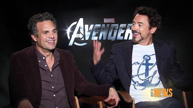 Vingadores: Guerra Infinita I MARK RUFFALO e ROBERT DOWNEY JR. divulgam foto inédita dos bastidores