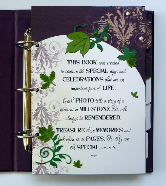 Quote Album Page Embellished with Rhinestones and Die-Cuts