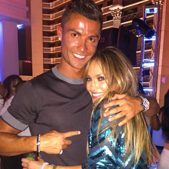 New images from birthday Jennifer Lopez and Cristiano Ronaldo