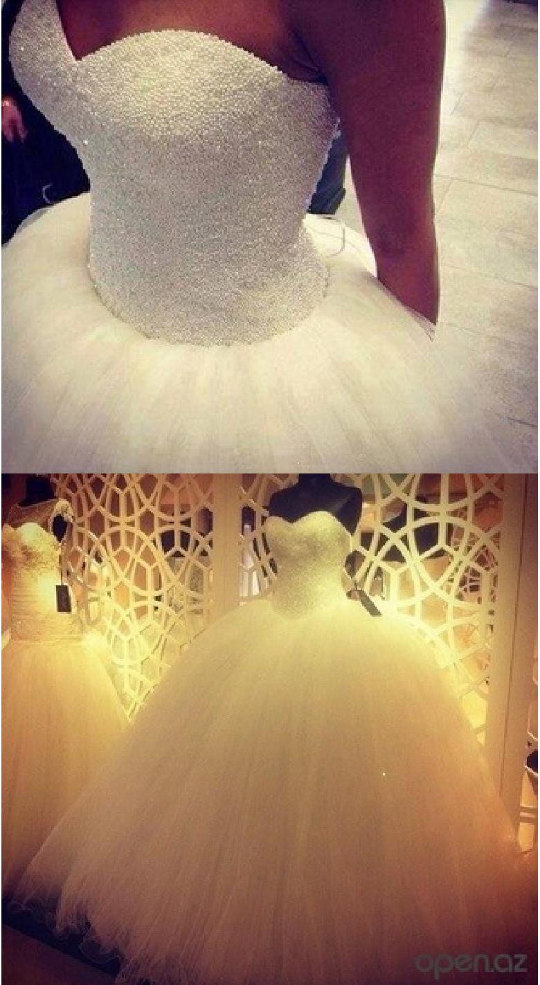 vestido de novia de perlas barato