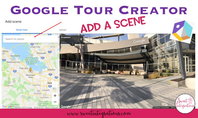 Adding a scene to to Google Tour Creator