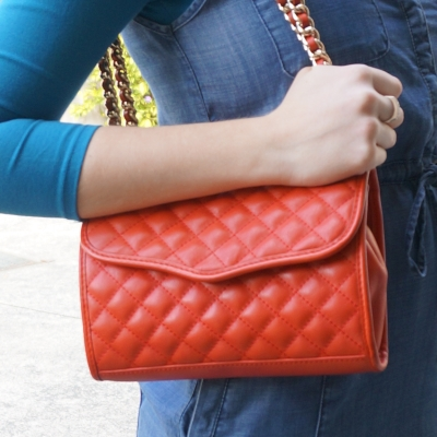 AwayFromTheBlue | Rebecca Minkoff quilted red mini affair bag doubled strap