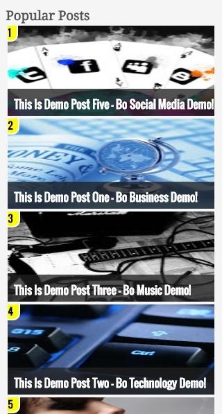 Popular Post Widget Style 5