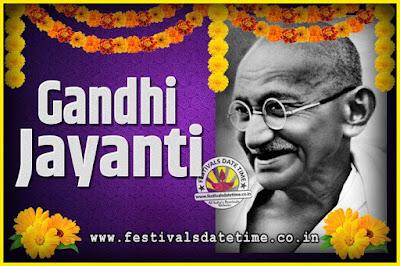 2027 Gandhi Jayanti Date and Time, 2027 Gandhi Jayanti Calendar